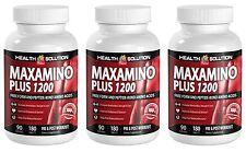 Maxamino Plus 1200 Sport Edition Pre Workout Amino Acid (3 Bottles, 540 Tablets)