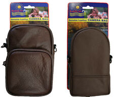 Amerileather Brown All Purpose Accessories Pouch (1908-2) - 2 pcs Set
