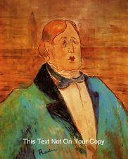 Ritratto di Oscar Wilde da Tolosa LAUTREC cotone tela REGALO QUADRO STAMPA