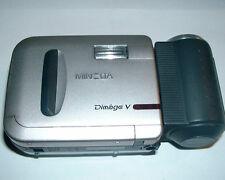 Vintage Minolta Dimage V Digital Camera Lens Extension Cable w/ Bin + Strap Case