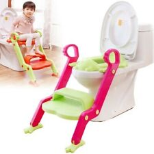 Niño Bebé Entrenamiento Baño Orinal Asiento - 2 Escalera de Mano Inodoro Trainer