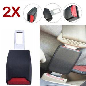 2x Universal Car Truck Seat Belt Clip Extender Safety Buckle Adapter Seatbelt