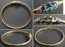 Superbe ancien bracelet en OR massif 18k et topaze ART DECO gold 00