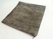 """Single Rich Chocolate Brown Textured Black Zip 17"""" Scatter Cushion Cover #13D382"""