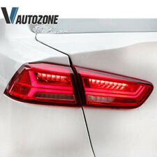 For 2008-2018 Mitsubishi Lancer/EVO X Red Clear LED Tail Lights Rear Brake Lamps