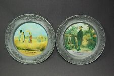 "Rolf Tremmel 2PC Pewter Round 7 1/2"" Decorative Plates #9 & #10"