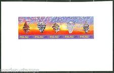 PALAU SEASHELLS  SET  IMPERFORATED PROOF ON CARD   RARE