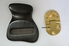 Solid short ebony tailpiece for Jazz archtop guitar