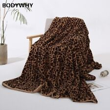 Leopard Blanket Long Shaggy Fur Faux Fur Warm Bedspread Sofa Throw Blankets