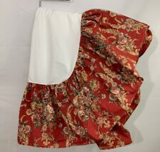 Ralph Lauren Danielle Marseilles Queen Bed Skirt Red Floral Cottage Country