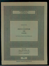 SOTHEBY CATALOGUE OF FRENCH FURNITURE CLOCKS PROPERTY OF BARON ROTHSCHILD 1972