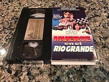 Muerte En El Rio Grande Rare VHS! 1998 Spanish Mexi Action! Jorge Luke