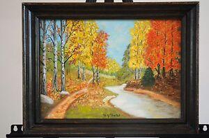 Vintage Original Impressionist Oil Painting on Board by Baxter Era Midcentury