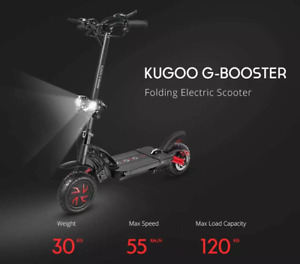 KUGOO G-BOOSTER Top Electric Scooter 1600w 48v/23Ah Max Speed 55km/H Range 80km