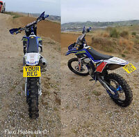 """7"""" x 5"""" Flexible Motorbike Number Plate - Flexi Motorcycle Bike Small Show Plate"""