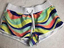 OP ladies junior multi-color drawstring shorts size Medium (!)