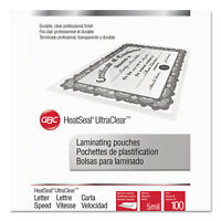 Swingline GBC UltraClear Thermal Laminating Pouches 5 mil 11 1/2 x 9 100/Box