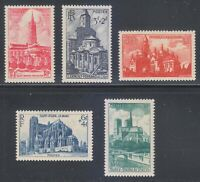France 1947 MNH Mi 773-777 Sc B213-B217 Churches & Cathedrals **