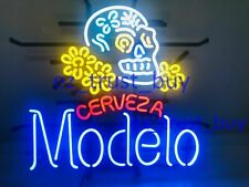 "Modelo Especial Sugar Skull Cerveza Neon Light Sign 20""x16"" Decor Glass Bar Beer"