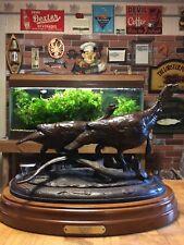 "NWTF Bronze Wild Turkey Sculpture, 80s, O'Neal, ""BIG RIVER"" - WOW"