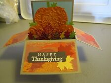 Happy Thanksgiving pop up box Leaves Autumn Handmade Card Kit some stampin up