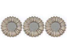 Set di 3 25cm Champagne Oro/Bronzo rotondo effetto invecchiato a sole Design SPECCHI