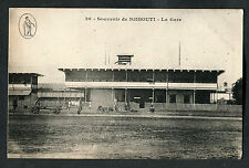C1910 View of People Outside of the Train Station, Djibouti