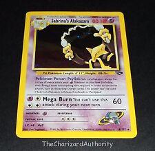 Sabrina's Alakazam 16/132 Gym Challenge HOLO Rare Pokemon Card NEAR MINT