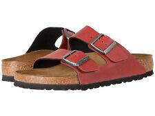 Birkentsock Arizona Damen Sandale Slipper Badelatschen rot Gr. 36