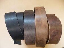 Lederriemen Gürtel Büffelriemen Dickleder 8 versch. Farben Breite 2 - 8 cm x 130