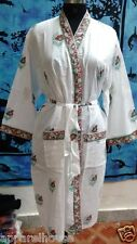 Kimono Hippie Lingrie Night Wear Indian Hand Made Intimates Cotton Wrap Robes