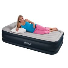 Intex Deluxe Pillow Rest Raised Airbed with Built-in Pump Single or Queen Size