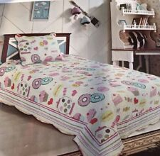 Girls Single king Single Patchwork Quilt Coverlet 100% Cotton New