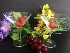 2x Vintage 14cm Martini Cocktail Champagne Glasses