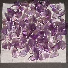 AMETHYST Lilac Bolivia xs-sm tumbled 1/2 lb bulk stones purple qtz translucent