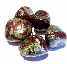 X1 Genuine Natural Dragon Stone Jasper Crystal Tumbled Stone