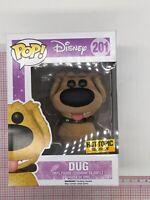 Funko Pop Dug #201 Disney Up Flocked Hot Topic Exclusive NOT MINT BOX I02