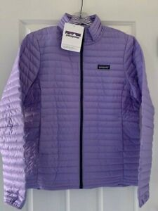 PATAGOINIA WOMENS NWT DOWN SHIRT LIGHTWEIGHT DOWN JACKET PLOY PURPLE SIZE LARGE