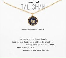 Magical Talisman Lotus Style New Beginnings Charm Gold Style Wish Necklace