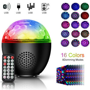 Mini RGB Stage Light LED Magic Laser Ball Disco Party USB Lamps Sound Activated