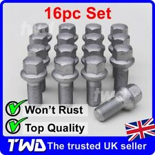 16 x ALLOY WHEEL BOLTS FOR MERCEDES BENZ C-CLASS (2007+) W204 W205 NUTS [MA40]