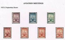 FRANCE ROUEN AVIATION MEETING 1922 STAMP MH 149 CINDERELLAS NICE COLLECTION !!!