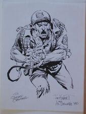 AL DELLINGES / JOE KUBERT original art, Signed, SGT ROCK, 8.5x11, 1980, Sketch
