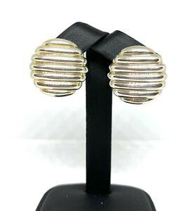 John Hardy Ribbed Sterling Silver Earrings