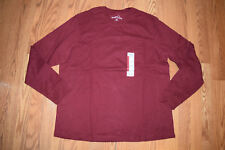NEW Mens EDDIE BAUER Maroon Long Sleeve Shirt Size XXL 2XL