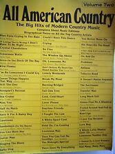 livre de partitions de musique ALL AMERICAN COUNTRY - VOLUME 2