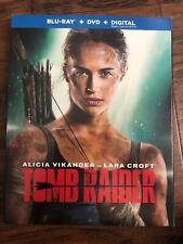 New listing Tomb Raider 2018 Blu-Ray + Dvd + Digital Hd New Sealed W/Slipcover