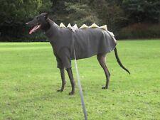 dog dinosaur jumper fleece coat greyhound lurcher  size 13-15 khaki xsmall