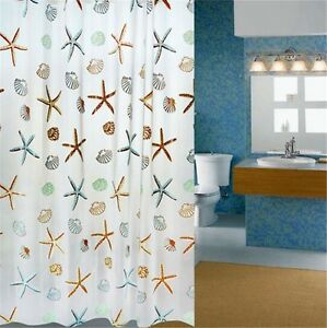 4 Styles 180*200cm Bathroom Waterproof Fabric Shower Curtain With 12 hooks