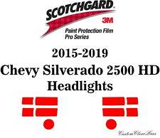 3M Scotchgard Paint Protection Film Pro Series 2015 2019 Chevy Silverado 2500 HD